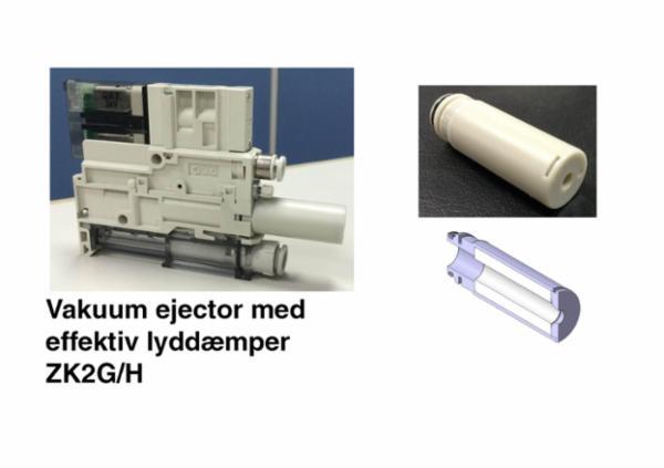 Energibesparende højtydende kompakt vakuum ejector med effektiv lyddæmpning - ZK2