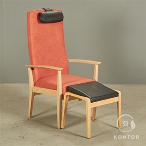 Kusch+Co. Loungestol i orangemed vip og skammel