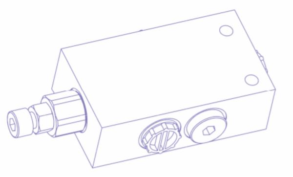 FCV ventil, Fluid circulation valve til variabel TXV pumpe.