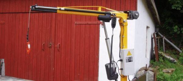 Knap-on kran M. elektrisk udskud, 350 Kg.