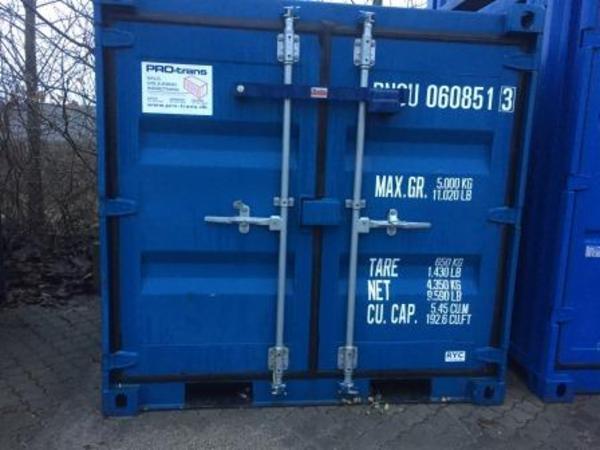 060851-3 6'skibscontainer m/låsebom