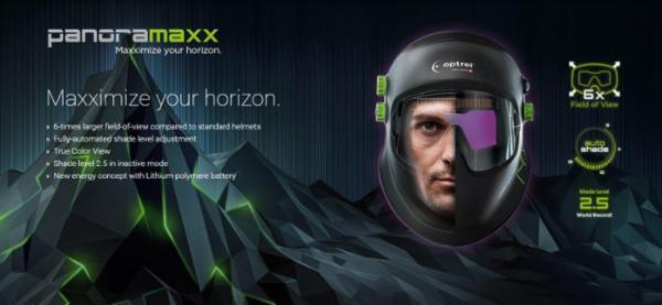 Panoramaxx Svejsehjelm - Den nyeste teknologi i svejsehjelme - Optrel Svejsehjelme
