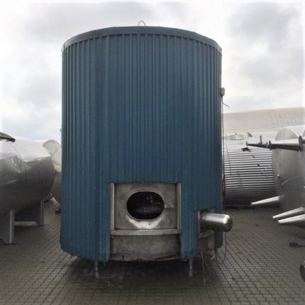 1 stk. 12 m3 isoleret rustfri tank V1015