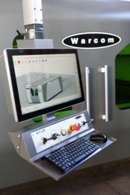 Warcom W-Fiber laser skæremaskiner med hastigheder på 2,8 meter pr. sekund