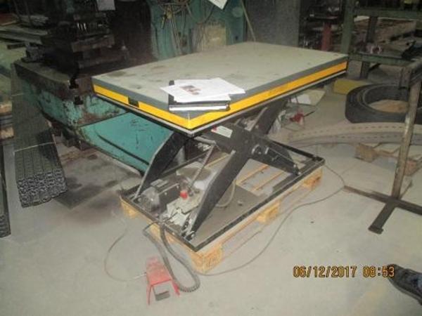 Brugte sax løfteborde 1000 og 2000 kg sælges