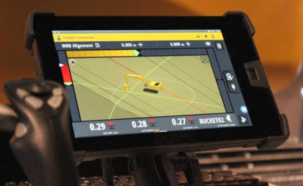 Trimble Earthworks 3D maskinstyringssystem - automatik