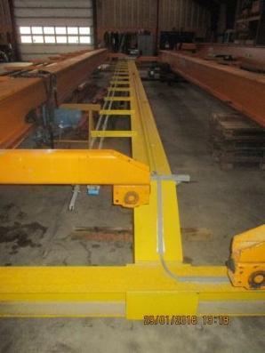 Brugt traverskran 2 ton Verlinde radiostyret ca. 14 mtr. spænd sælges
