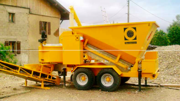 Mobil cementblandeanlæg model B1200