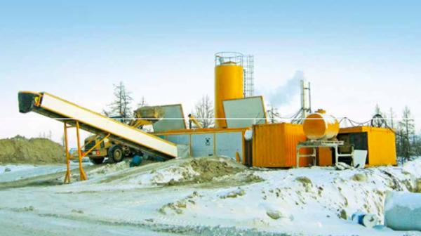 Semimobilt betonblandeanlæg egnet til vinterforhold