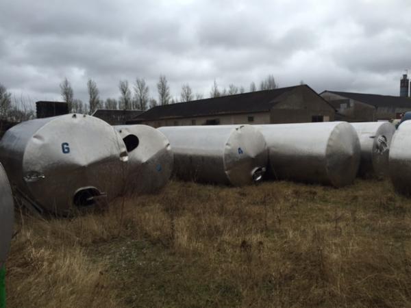 14.500 liters rustfrie tanke