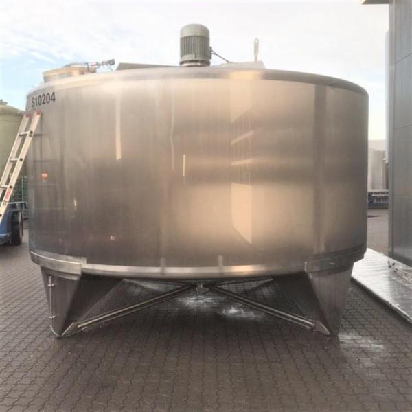 4 stk. 25 m3 uisolerede rustfrie tanke V0974-V0977