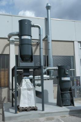Centrale støvsugeranlæg - rengøring af produktionsområder, procesafsugning fra maskiner og værktøj