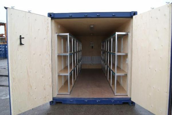 262656-0 20'skibscontainer,DEMO, isoleret, el-inst. låsebom