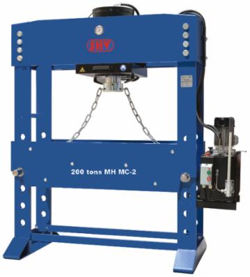 SHV 200 tons MH MC-2 værkstedspresse - motoriseret med flytbar cylinder og ekstra bredde