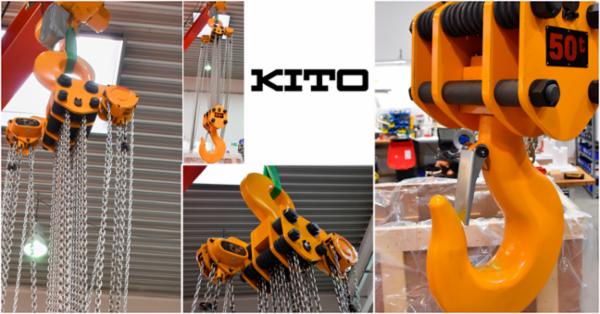 KITO CB Håndkædetalje med bæreevne på 50 tons