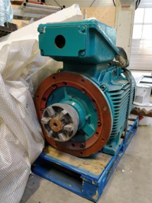 Ubrugt 110kW elmotor sælges Brook Crompton WP-DF280MN
