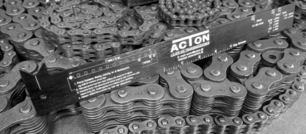 Acton kædelineal til nem kontrol af kædeforlængelse