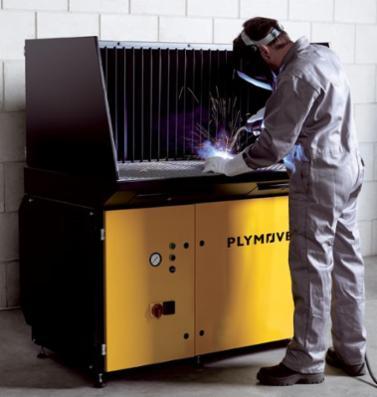 Dansk Procesventilation tilbyder højeffektivt udsugningsbord DraftMax fra Plymovent