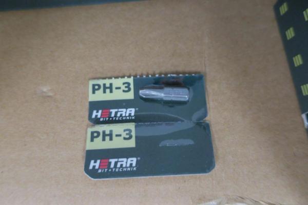 1000 stk. bits hetra PH-3