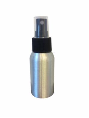 Alu. flaske 50 ml. inkl. sprayer og hætte