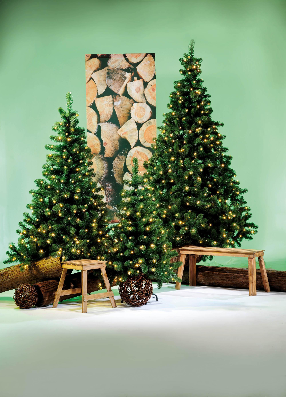 Smart Kunstige juletræer med eller uden sne og lys IU49
